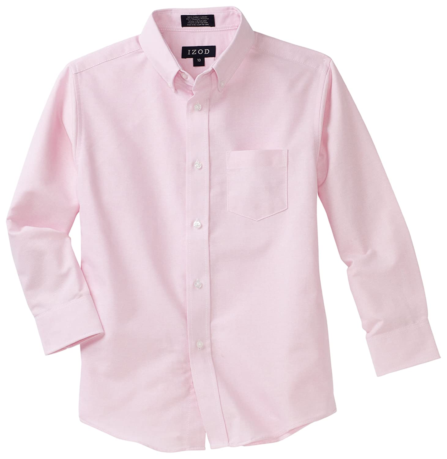 IZOD Kids Big Boys' Long-Sleeve Solid Buttondown Dress Shirt ...